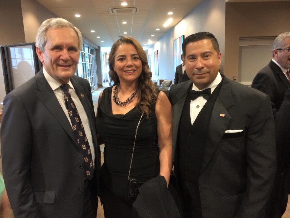 Janice Gonzalez and Ernie Gonzalez with U.S. Congressman Lloyd Doggett
