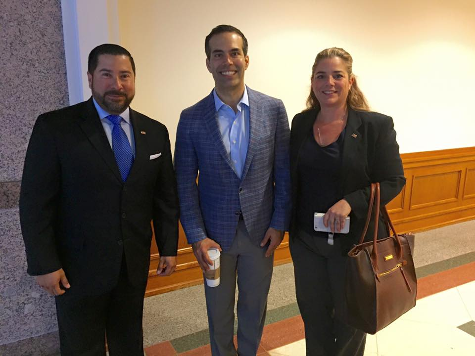 Ernie Gonzalez and Janice Gonzalez with Texas Land Commissioner George P. Bush