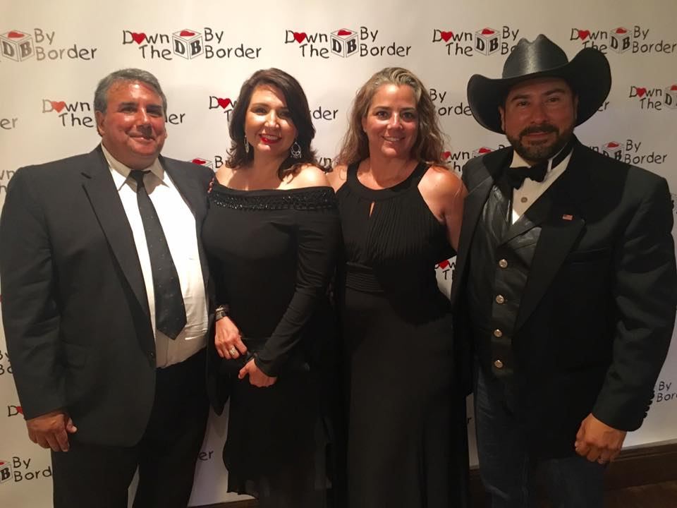 Janice Gonzalez and Ernie Gonzalez with U.S. Congressman Filemon Vela District Director Marisela Cortez and Narcisco Cortez