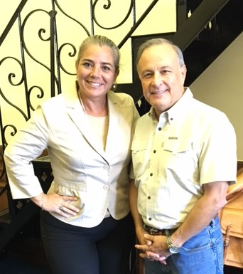 EMC Owner Janice Gonzalez with Texas Secretary of State Carlos Cascos