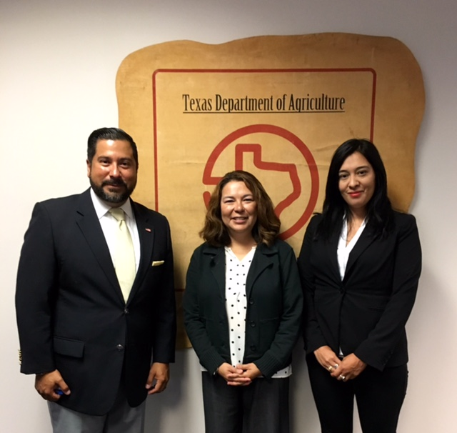 Ernie Gonzalez and Sylvia Soto with Assistant Director of Texas Department of Agriculture Erica Garza