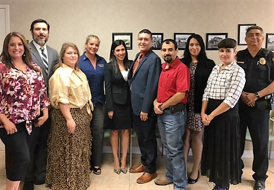 Freer City Staff with Senator Ted Cruz South Texas Director Casandra Garcia